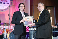 Receiving Best of Budapest award in 2009
