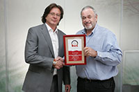 Receiving Best of Budapest award in 2013